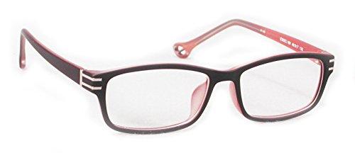 ES169 TR 90 Eye Glasses Full Frame (Black/Red, - Prescription Discount Glasses