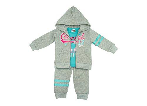 Angel Face Girls & Toddlers 3 Piece Fleece Clothing Set - Pants, Top & Jacket (Clothing Toddler Kids Angel)