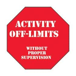 Activity off-Limits Sign (EA): Amazon ca: Sports & Outdoors