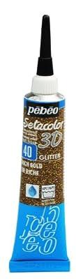 Pebeo Setacolor 3D Fabric Paint, 20ml, Glitter Rich Gold