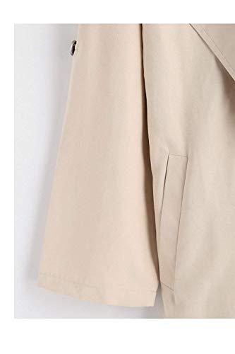 Lunga Qk Estilo lannister Baggy Trench Beige Bavero Donna Windbreaker Manica Primaverile Outerwear Casuali Eleganti Especial Puro Giacca Colore Autunno Cappotto xxSwO8