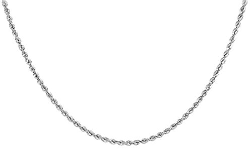 Carissima Gold - Chaîne maille corde - Or blanc 9 cts - 61 cm - 5.19.3987