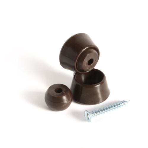 Slipstick CB215 Swivel Glider Floor Protector Sliders for Chairs / Furniture with Angled Legs (set of 8) 22 mm Round - Chocolate Brown