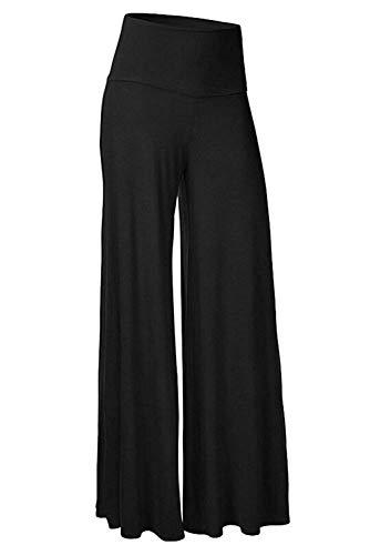 Pants Casual High Waisted Wide Leg Pants Lounge Long Bell Bottom Slacks,Large,Black ()