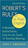img - for Robert's Rules in Plain English 2nd (second) edition Text Only book / textbook / text book