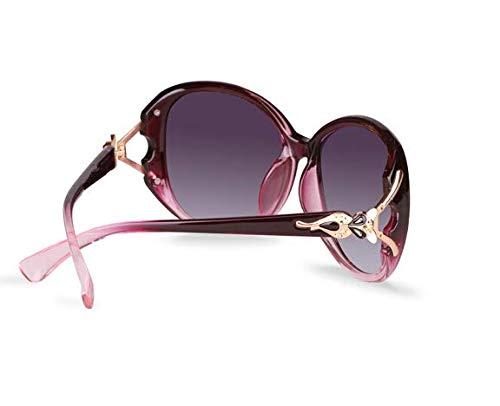 Gafas Púrpura Sol Marco La Mujeres liwenjun Polarizadas Gafas De Las De De De Moda Las Nueva Sol PPZ1p