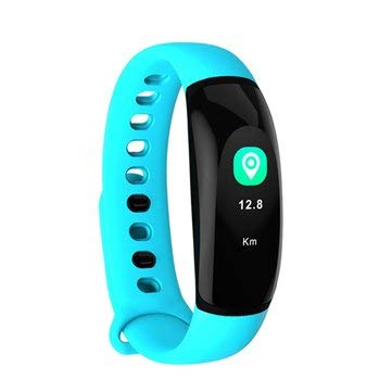 U8Plus Color Screen HR Blood Pressure Caller ID Display Fitness Tracker Smart Watch Bracelet - Smart Watch & Band Smart Wristband - (Blue) - 1 x USB Hand Dynamo Charger with Light