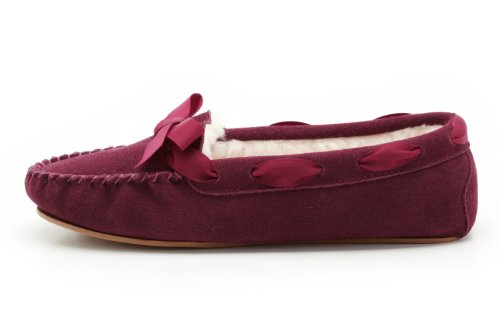 Clarks Wake Me Slippers - Navy Suede Rose