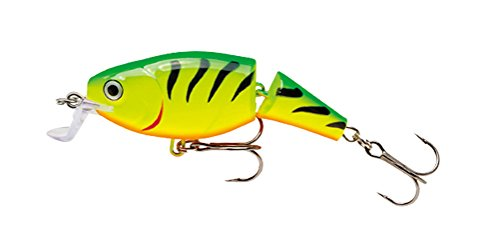 Rapala Jointed Shallow Shad Rap 5 Fishing Lure, Fire Tiger, 2-Inch