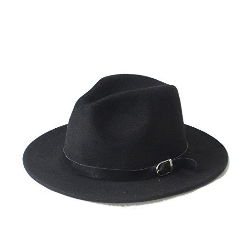 Douhuayu Fashion Chapeu Feminino Fedora Hat with Wide Brim Leather Band Jazz Church Cap Panama Fedora Sun Hat (Color : 1, Size : 57-58cm) by Douhuayu