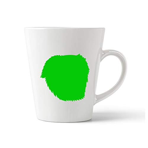 Style In Print Green Great Pyrenees Silhouette Ceramic Latte Mug - 12 OZ -
