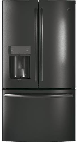GE Profile PFE28KBLTS 36 French Door Refrigerator with 27.8 cu. ft. Total Capacity in Black Stainless Steel (Refrigerator Profile Steel Stainless Ge)