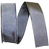 Reliant Ribbon Katy May 2 Wired Edge Ribbon, 1-1/2 Inch X 25 Yards, Pewter
