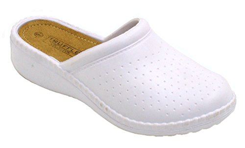 Infermieristica Donna Slip Hospital Ortopedico M40 Wedge Shu Zoccoli Shoes Crazy Bianco On qH5wWXtx