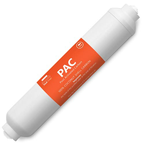 Express Water – Post Activated Carbon PAC Water Filter Replacement – 5 Micron Inline Filter – 10 inch Quick Connect – Under Sink and Reverse Osmosis System