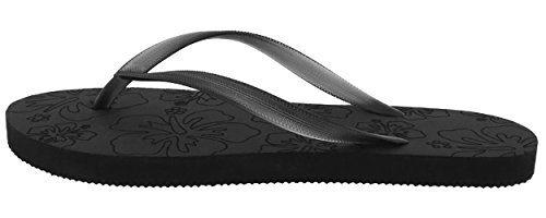 Capelli New York Ladies Textured Frasted Jelly Chanclas Negro