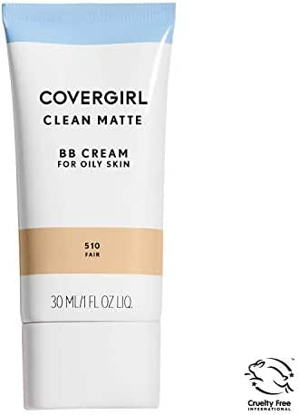 COVERGIRL Clean Matte BB Cream For Oily Skin, Fair 510, 1 oz (Packaging May Vary) Water-Based Oil-Free Matte Finish BB Cream