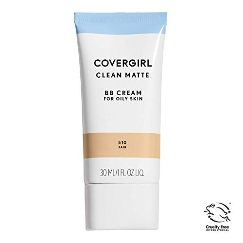 COVERGIRL Clean Matte BB Cream For Oily Skin, Fair 510, (Packaging May Vary) Water-Based Oil-Free Matte Finish BB Cream, 1 Fl Oz (1 Count) (Best Drugstore Tinted Moisturizer For Oily Skin)