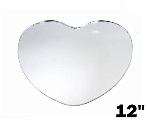 BalsaCircle 36 pc 12'' HEART Glass MIRROR Wedding Table Centerpieces by BalsaCircle