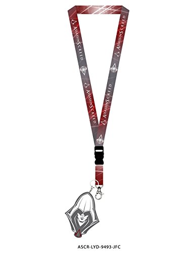 Assassin's Creed OFFICIAL Premium Lanyard Keychain GIFT with Assassin (Assassin's Creed Names)