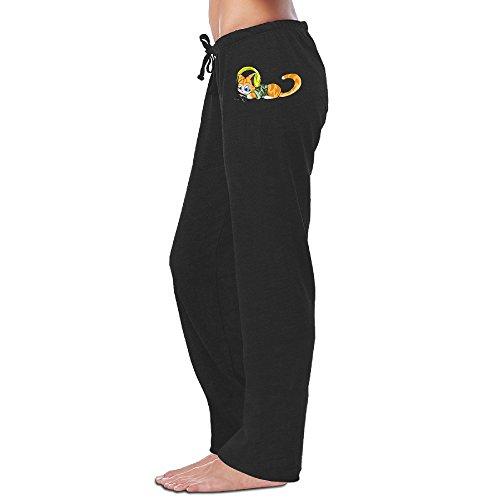 [Wesley Hello Cat Women's Fitness Sweatpants Black XL] (Lone Ranger Costume Shirt)