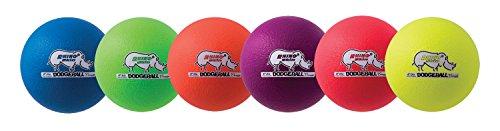 - Champion Sports Rhino Skin Dodgeballs (Set of 6, Neon Rainbow, 6