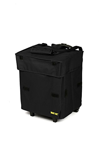 dbest products Cooler Smart Cart, Black Insulated Collapsible Rolling Cooler Tailgating BBQ Beach Summer