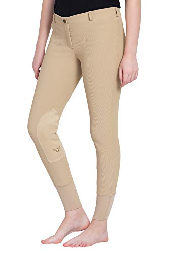 TuffRider Women's Ribb Lowrise Pull-On Breeches, Light Tan, ()