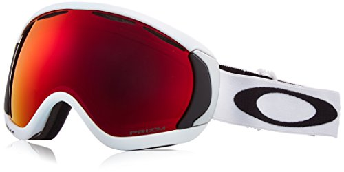 Oakley Men's Canopy Snow Goggles, Matte White, Prizm Torch Iridium, - White Oakley Goggles