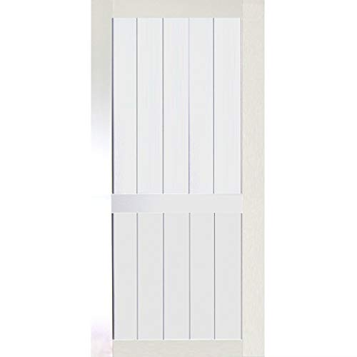 Kimberly Bay 2-Panel White Solid Core Pine Barn Door Slab (83.5x30) (30x84)