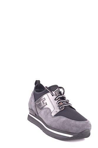 Hogan Damen MCBI148308O Grau/Schwarz Wildleder Sneakers