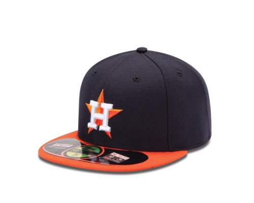 2013 Authentic Collection - MLB Houston Astros 2013 Authentic Collection on Field Road Cap, 7 1/8, Navy/Orange