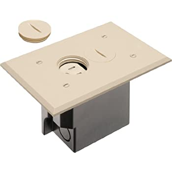 Arlington Flbr101la 1 Floor Electrical Box Kit With Outlet