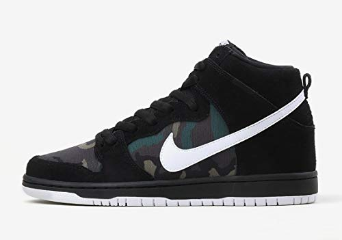 - Nike SB Dunk High Pro Men's Skateboarding Shoes - BQ6826 (10.5 M US, Black/White-Iguana)