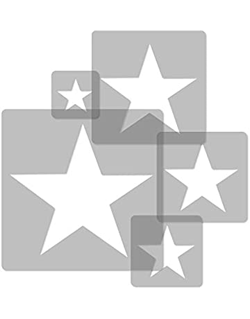 5 plantillas de pintura reutilizables hechas de plástico // ESTRELLA // 34x34cm x 9x9cm