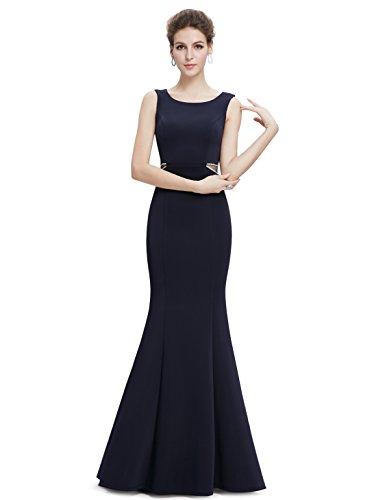 Ever-Pretty Womens Elegant Sleeveless Floor Length Mermaid Style Prom Dress 12 US Midnight Blue by Ever-Pretty (Image #4)