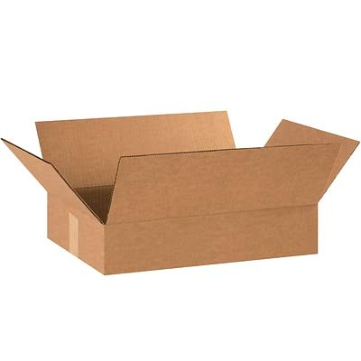 - 25//Bundle 18 x 12 x 3 Flat Corrugated Boxes 18123 5 Bundles Partners Brand Kraft
