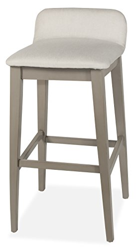 Hillsdale Furniture Contemporary Counter Stool in Distressed Gray Finish