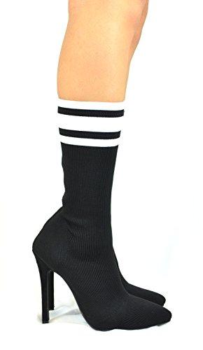 Heel Chloe 1 Bootie High Black Monterey Chase Sock amp; wPXx7q5Xp