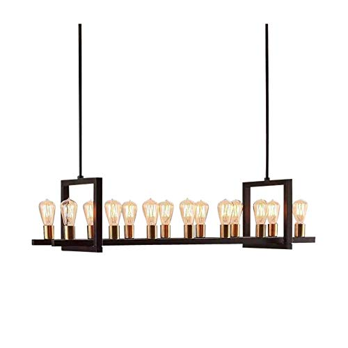 Contemporary Luxury Rectangular Linear Island Dining Room: Farmhouse Chandelier Lighting Great For Dining Rooms And