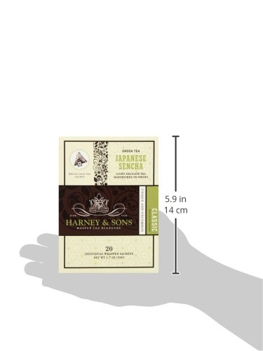 Harney & Sons Green Tea, Japanese Sencha, 20 Sachets, Pack of 6 by Harney & Sons (Image #5)