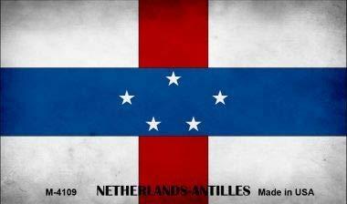 Note Netherlands Antilles (Bargain World Netherlands Antilles Flag Novelty Metal Magnet (with Sticky Notes))