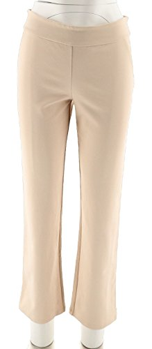 Linea Louis Dell'Olio Petite Super Ponte Knit Pants Alabaster 16P New A303147 from Linea by Louis Dell'Olio