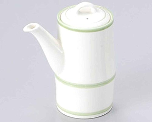 Green Lines 3.8inch Set of 5 Soy Sauce Dispensers White porcelain Made in Japan by Watou.asia