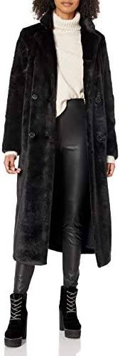 House of Harlow 1960 Women`s Perry Coat Noir Small