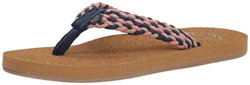 Roxy Women's Porto Sandal Flip Flop, Navy, 11 M US ()
