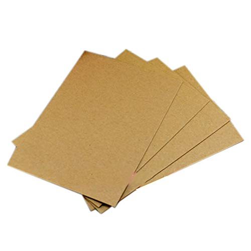 20PCS Blank Greeting Card Kraft Paper Postcard Vintage Blank Postcards DIY Hand Painted Graffiti Message Card -
