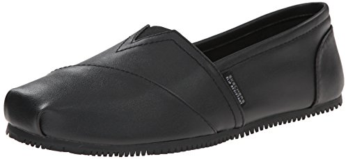Skechers Work Women's Kincaid II Slip On Flat w/gore, Black, 6 M US