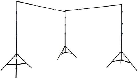 Doppel-Teleskop-Hintergrundsystem /& 2X Stoffe gr/ün METTLE Hintergrund-Set