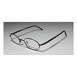 Cerruti 1881 C5226 Mens/Womens Oval Full-rim Eyeglasses/Eyewear (47-21-135, Matte Brown / Brown Horn)